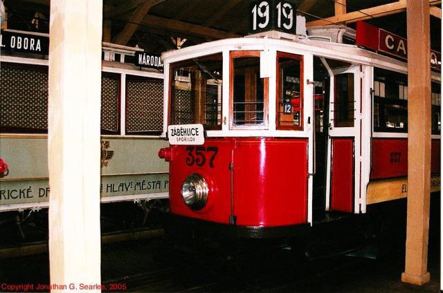 DPP #357, Prague Public Transport Museum, Stresovice, Prague, CZ, 2005