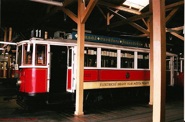 DPP #2222, Prague Public Transport Museum, Stresovice, Prague, CZ, 2005
