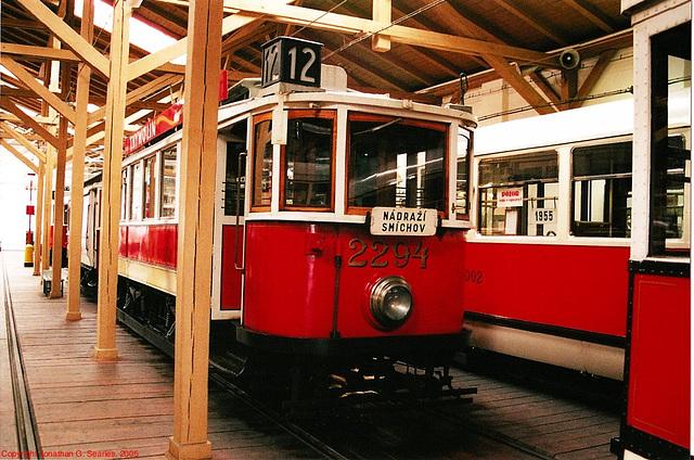 DPP #2294, Prague Public Transport Museum, Stesovice, Prague, CZ, 2005