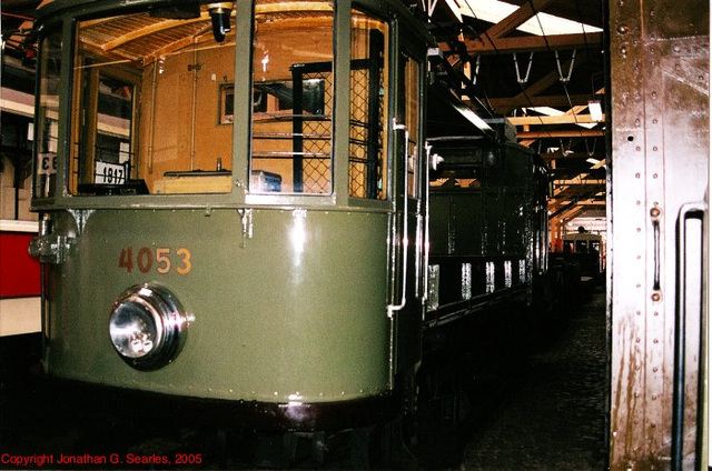 DPP #4053, Prague Public Transport Museum, Stresovice, Prague, CZ, 2005