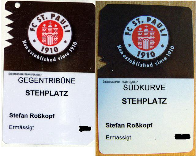 Dauerkarte FC St. Pauli Saison 2007-08