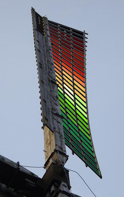 digitale Bespannung eines Windmühlenflügels