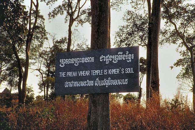 Prasat Khao Phra Vihaan is a Holy Cambodian national symbol