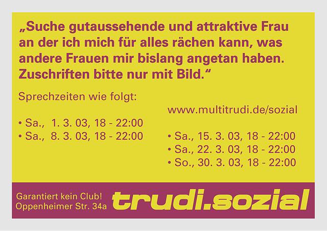 Flyer (Suche Frau)