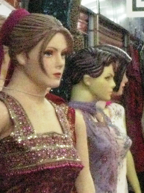 It's tough being a mannequin.
