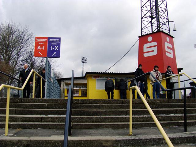 Stairway to Tivoli soccer ground in Aachen