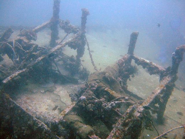 Derelict in the depth of 20 meters