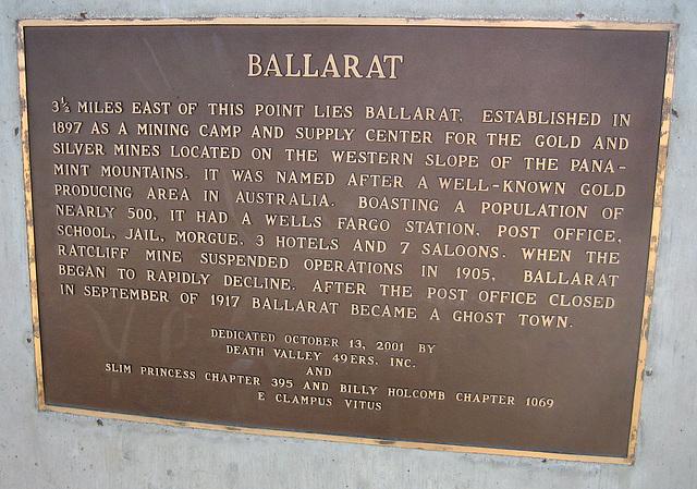 Ballarat Plaque (8602