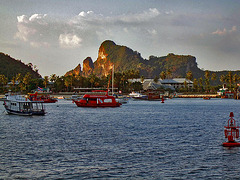 Sunset in the bay of Phi Phi Don