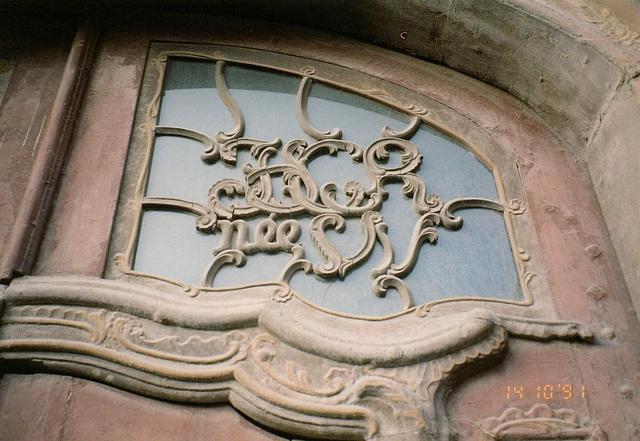 Detail einer Barocktür in Blankenburg