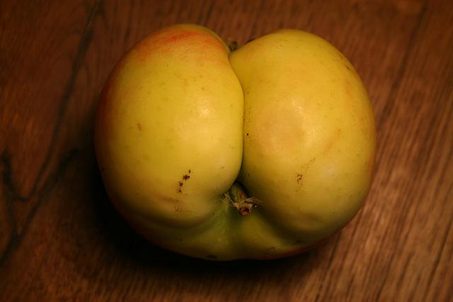 butt of an apple