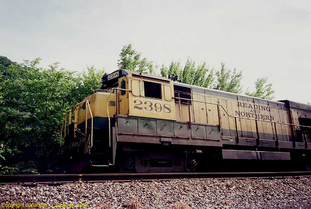 Reading & Northern #2398, Picture 2, West Leesport, PA, USA, 1995