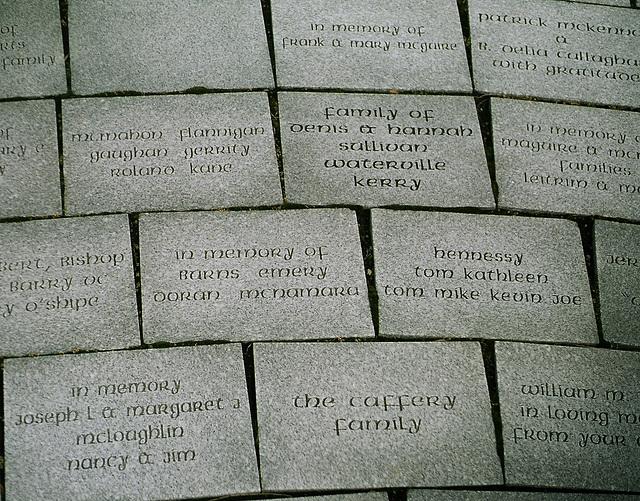 Irish famine memorial in Buffalo, NY, USA