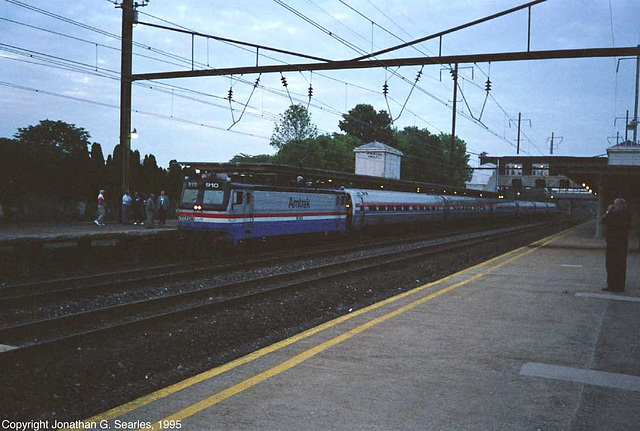 Amtrak #910 Arriving, Picture 2, Lancaster, PA, USA, 1995