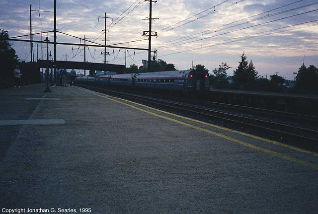 Keystone Service Led By Amtrak #910 Departing, Picture 5, Lancaster, PA, USA, 1995