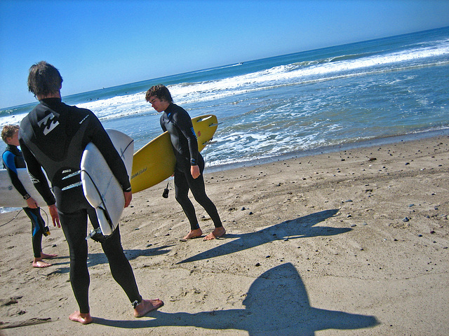 Trestles Beach Surfers (9190)