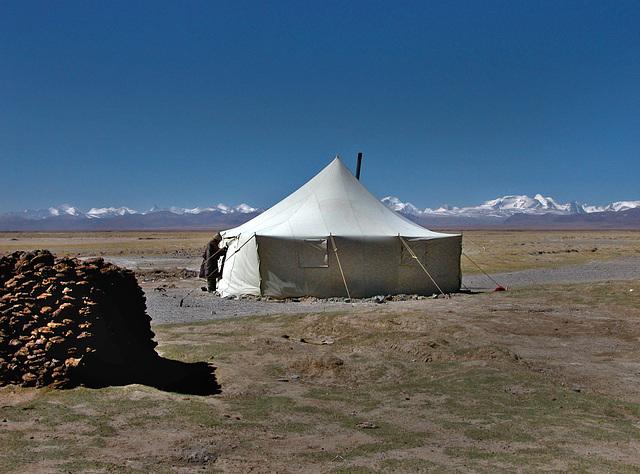 Nomads tent in Western Tibet