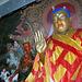 Buddha statue inside the Pelkor Chode Monastery
