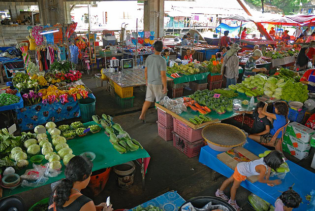 The market in Min Buri