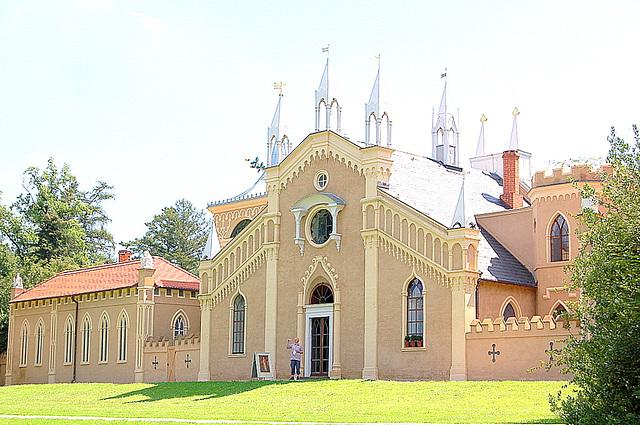 Itala flanko de la gotika domo