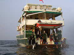 Getting on board after the dive