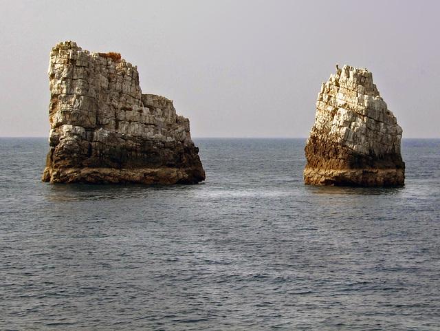 Two rocks as small pinnacle islands