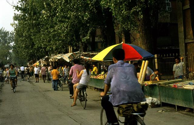 Multicolored ombrella