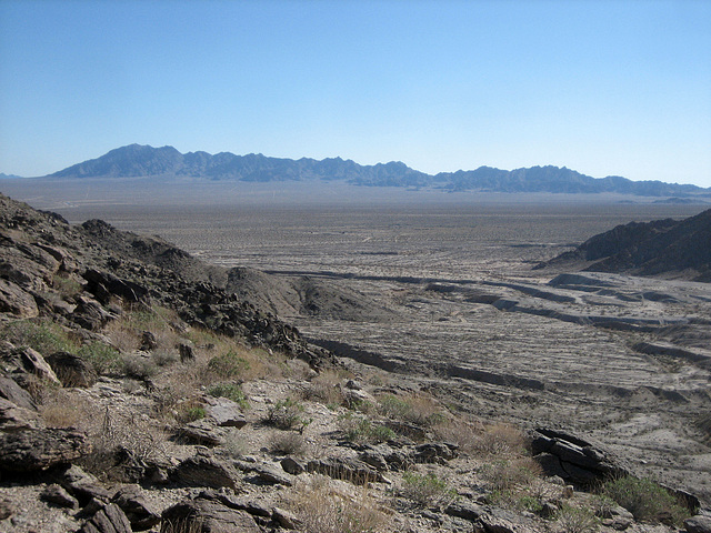 View Of Camp Iron Mountain And Colorado River Aqueduct (8993)