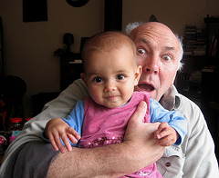 Beattie and the Troll ... (yet another bloody doting granddad pic)