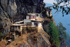Tiger's Nest Monastery with the fire destroyed part