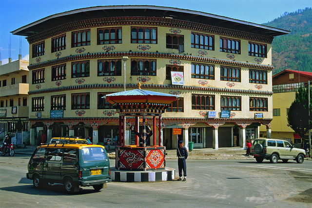 An intersection in Thimphu