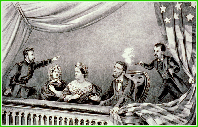 Assassinat d'Abraham Lincoln, lithographie