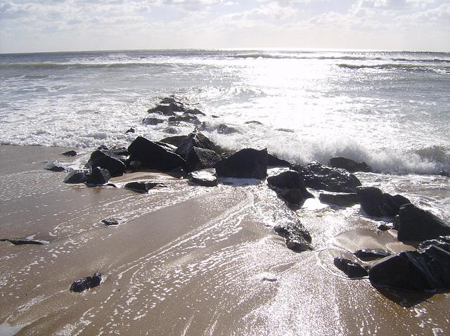 Wet Sand & Rocks