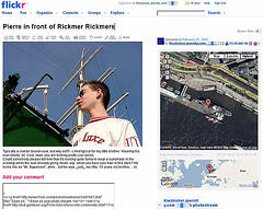 Geotagging in flickr with support by greasemonkey