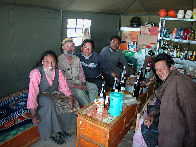A rest in a Nomads tent