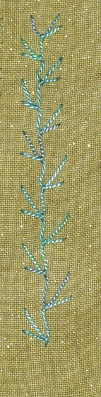 #61 Up-and-Down Feathered Buttonhole stitch