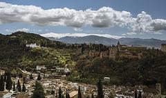 Sierra, Alhambra, Palacio de Carlos V.. (Ver en grande y con fondo negro)