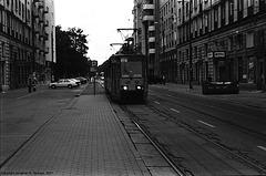 Tram At Politechnika, Warsaw, Poland, 2007