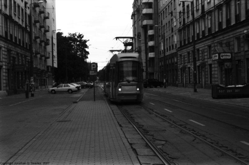 Tram At Politechnika, Picture 2, Warsaw, Poland, 2007