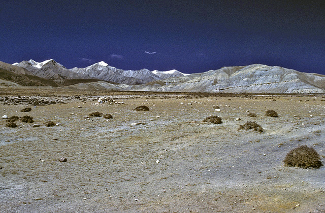 Panorama view near Mustang town