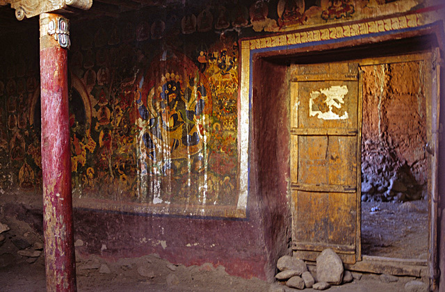 Entrance inside a Gompa