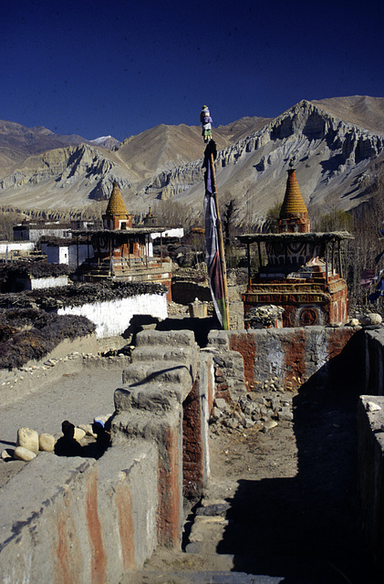 On the rooftop of a Gompa in Tsarang
