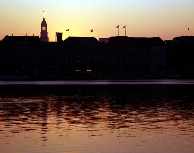 Alster lake - sunset
