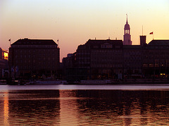 Sunset at Alster - lake