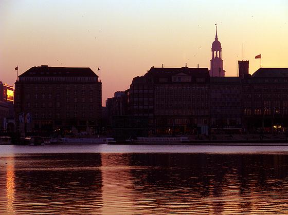 Sunset at Alster - lake