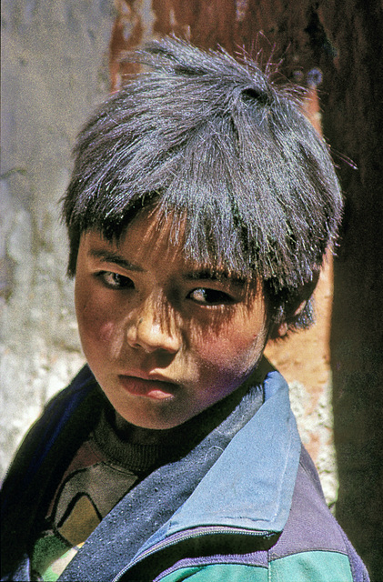 A boys portrait in Mustang town