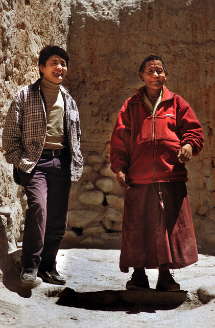 Our guide and interpreter in Mustang town