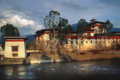 Punakha Dzong in the sunset light