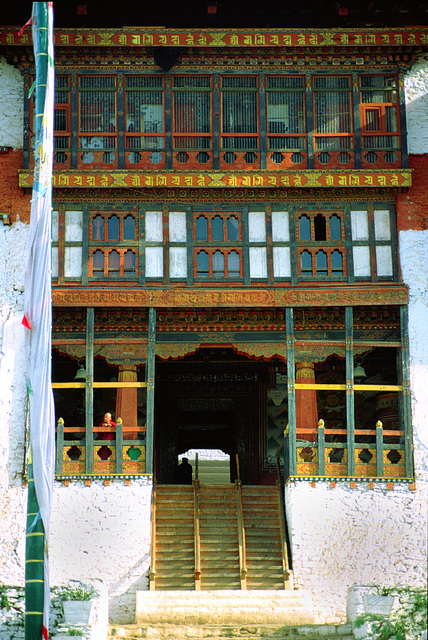 The door into the Punakha Dzong