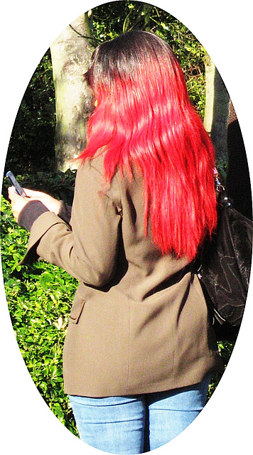 Reddened hair